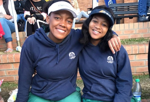 Thando Mtalana (left) and Bianca Wood are looking forward to representing Clarendon High when the school hosts the East London Coastal leg of the SPAR Eastern Cape Schoolgirls Hockey Challenge in East London on Sunday. Photo: Supplied