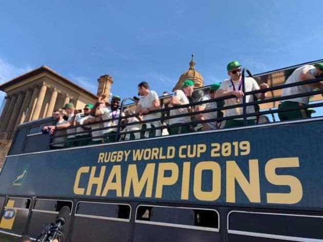 Rugby World Cup 2019 Champions Fan Tour in East London