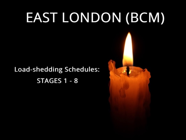 East London Load-shedding Schedules Stages 1 - 8