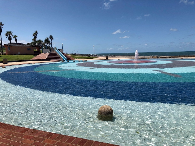 One of the kiddies pools at Orient Beach Complex