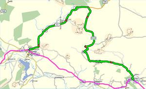 Route Map from De Doorns to Keisie Valley