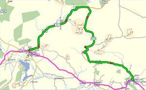 Route Map from De Doorns to Keisie Valley