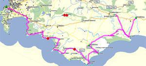 Road Trip Map for the Whale Route small