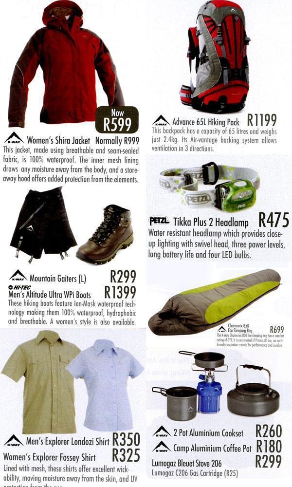 Additional Gear Cape Union Mart