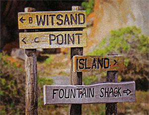 Trail signage on the peninsula