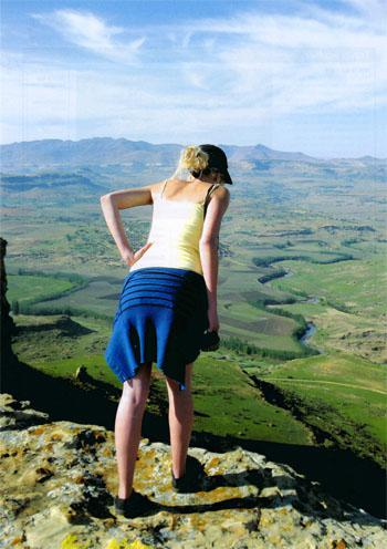 From the top, spectacular views are to be had of the Caledon River winding its way through the valley and into Lesotho