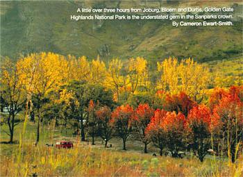 Golden Gate Reserve, Clarens, Free State