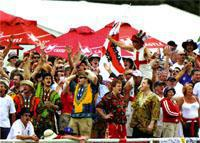 cricket grounds in SA post their best figures when England's Barmy Army come to town