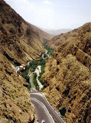 The Dades Valley in Morroco - a breathtaking sight