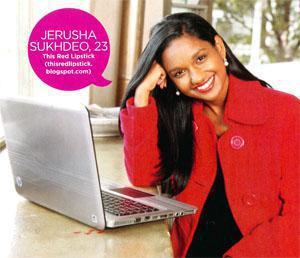 Jerusha Sukhdeo, 23 This Red Lipstick (thisredlipstick.blogspot.com)