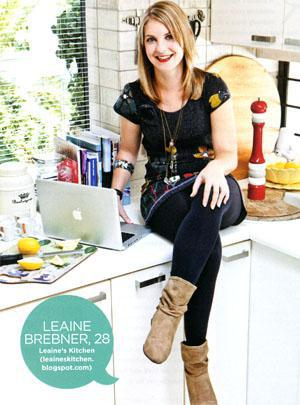 Leaine Brebner, 28 Leaine's Kitchen (leaineskitchen. blogspot.com)