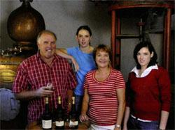 Boplaas is a family operation involving Carel Nel, his daughters Margaux (back), who assists with the winemaking, and Rozanne (far right), responsible for marketing, as well as wife Jeanne (middle).