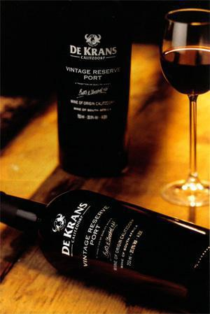The De Krans Vintage Reserve Port 2007 scored 4'/2 Stars in this month's Port tasting