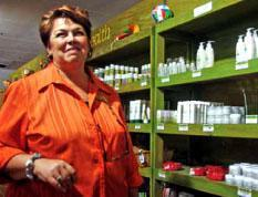 Vera of Alcare factory knows her aloes.