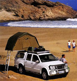 Rooftop tents are ideal for exploring holidays where you don't stay in one place for longer than a day.