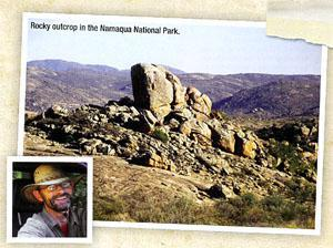 Rocky outcrop in the Namaqualand National Park