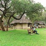 Luscious lawns at the Crocodile Bridge camp in the Kruger National Park