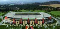 The magnificent Mbombela Stadium in Nelspruit, Mpumalanga