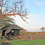 The hide at Talamati Bushveld camp in the Kruger National Park, overlooking the vast, game-rich plains