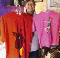 Annemari Brooks calls her home-shop Widower Brooke's Emporium. She sells mostly bric-a-brac and a few locally made products like T-shirts and paintings