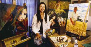Irma Strydom - a phenomenon in her own right. Irma's super-realistic portraits are shockingly lifelike. Her aim is to paint people even more realistically than an actual photo; the local graveyard where locals have their monthly picnics at full moon