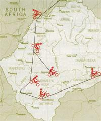The ascents and descents of a motorbike tour through Lesotho