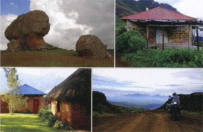 Rock art of the giants: The trading store at Qaba: The warm village-like feel of Malealea Lodge: Passing through the Gates of Paradise on the way to Mohale's Hoek.