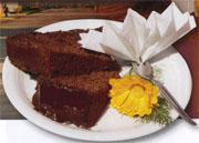 The best chocolate cake in town is served on the stoep outside Linda's bookshop.