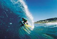 Surfing on the North Coast, Kwazulu-Natal