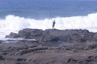 Fishing off the rocks at Ballito Bay