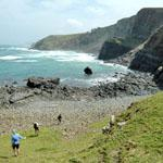 A remote spot for fishing at Coffee Bay, Wild Coast, Eastern Cape