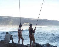 Fishing at Port St Johns, Wild Coast, Eastern Cape