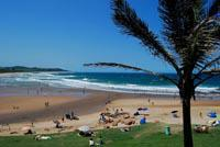 Fishing is popular off the beach at Scottburgh