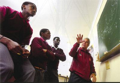 All-out attack With coach Theo Pieterse's guidance [above], Ithembilihle play an attacking style of rugby not often seen in the schoolboy game.