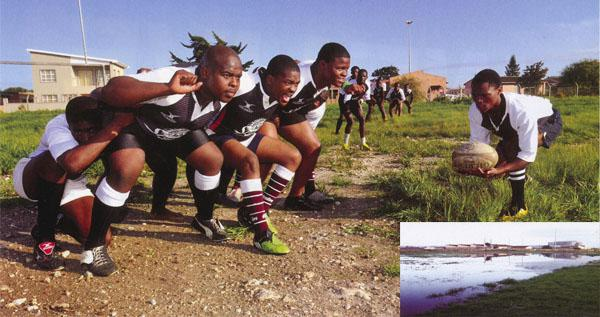 Crouch, touch, pause ... Even though they've never trained with a scrum machine and lack proper nutrition, Ithembelihle's love for the game makes them formidable opponents. When their field's not flooded in winter, it's studded with stones. Undaunted, Ithembelihle play on.