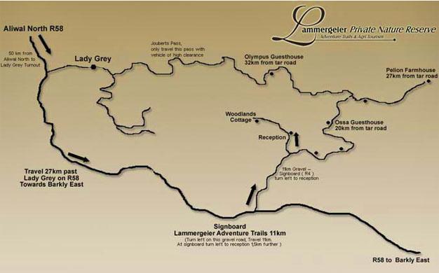 Lammergeier Private Nature Reserve Map