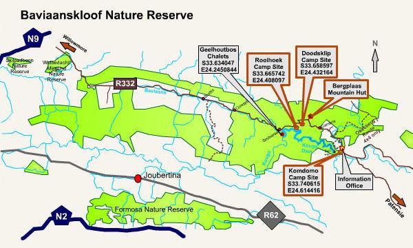Baviaanskloof Map