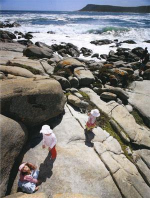 Kids will love West Coast National Park, whether they go boulder hopping or splash in the warm shallows