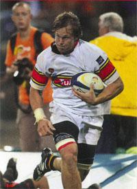 Raging Bull Arno Botha from Tuks stampered through all corners in the 2011 Varsity Cup, straight into SA U20 and Blue Bull's side.