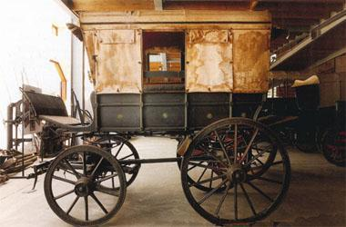 De Poort's flagship, a Spring Wagon, in this case a rare example of a Boer War ambulance, used by both sides