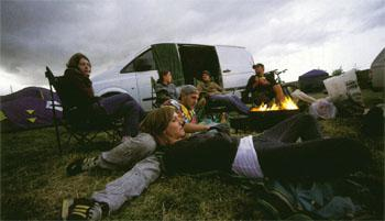 Free camping is part of the deal at the Eselfontein Festival