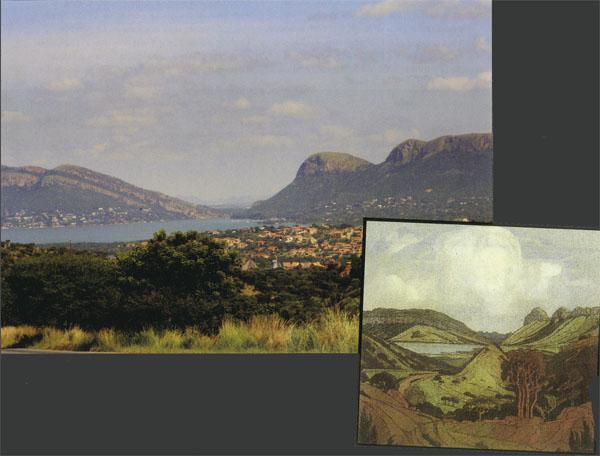 Pierneef's painting of Hartbeespoort Dam fairly closely resembles the real thing