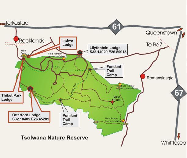 Tsolwana Game Reserve Map