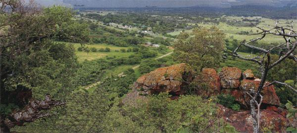 The view from Buyskop, the koppie where the notorious renegade, Conraad de Buys, hid from tribesmaen who wanted to kill him