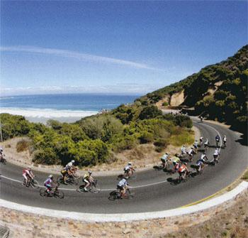 Coming out of Noordhoek, you'll reach Little Chappies (a steep hill just before Chapman's Peak).