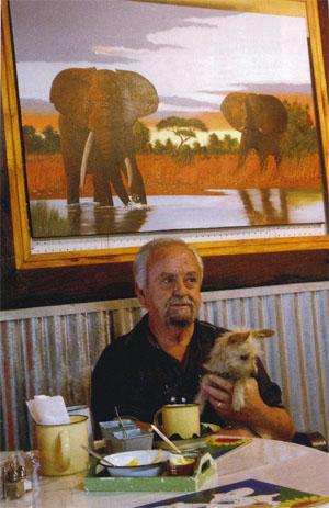 Claude Boswell, a wildlife artist who moved to Bela-Bela from Johannesburg 25 years ago.