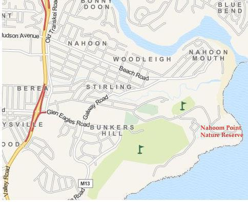 Nahoon Point Nature Reserve Map, East London