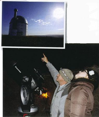 SALT, the pride of the town. Jurg Wagener explaining the night sky during one of his stargazing tours.
