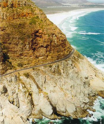 The two-kilometre stretch along Chapman's Peak is one of the most scenic sections.