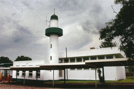The unique Bela-Bela mosque that resembles a lighthouse.